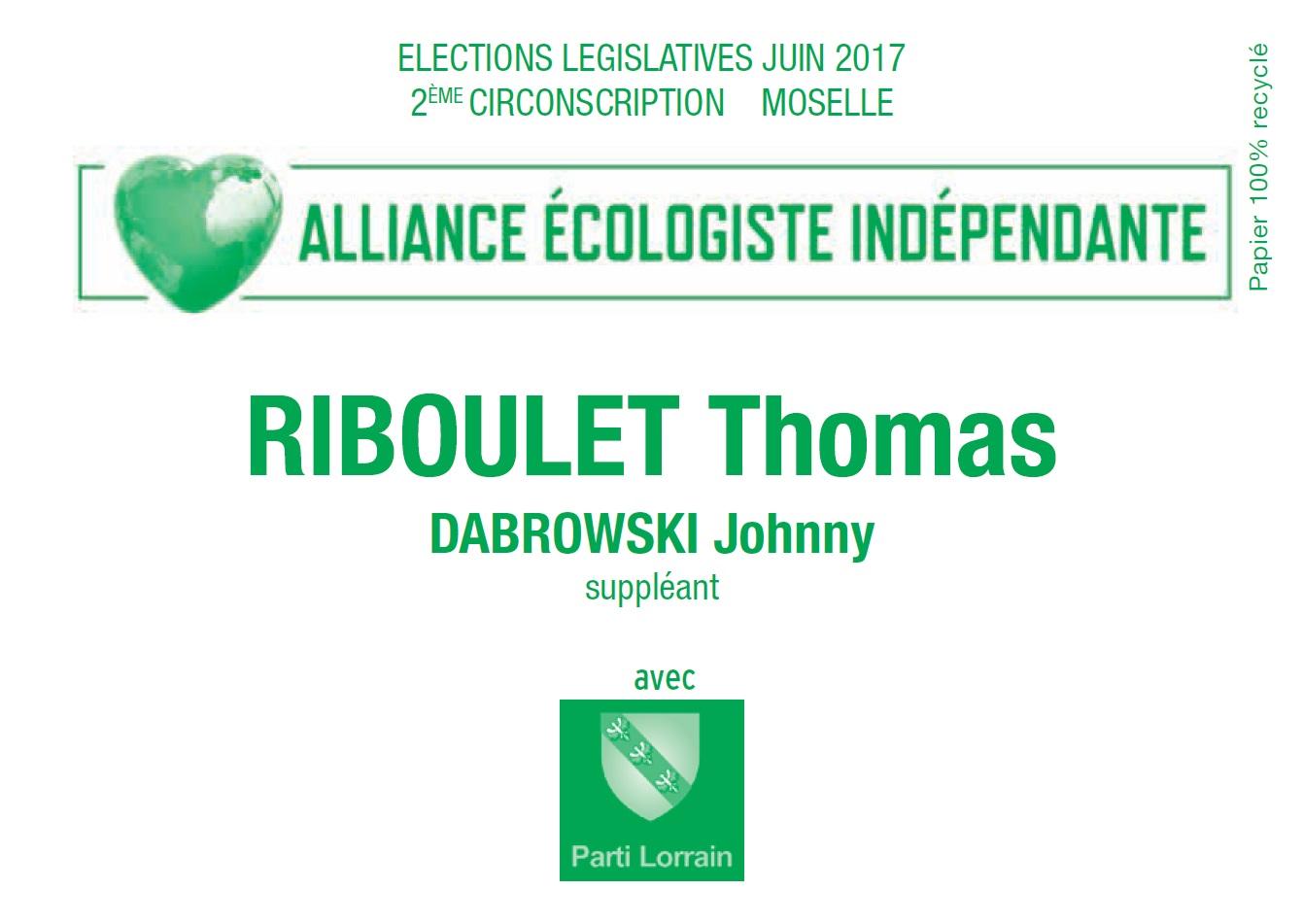 Bulletin de vote thomas riboulet 2eme circo moselle