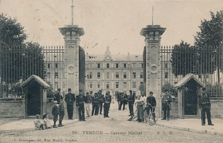 Caserne Miribel Verdun carte